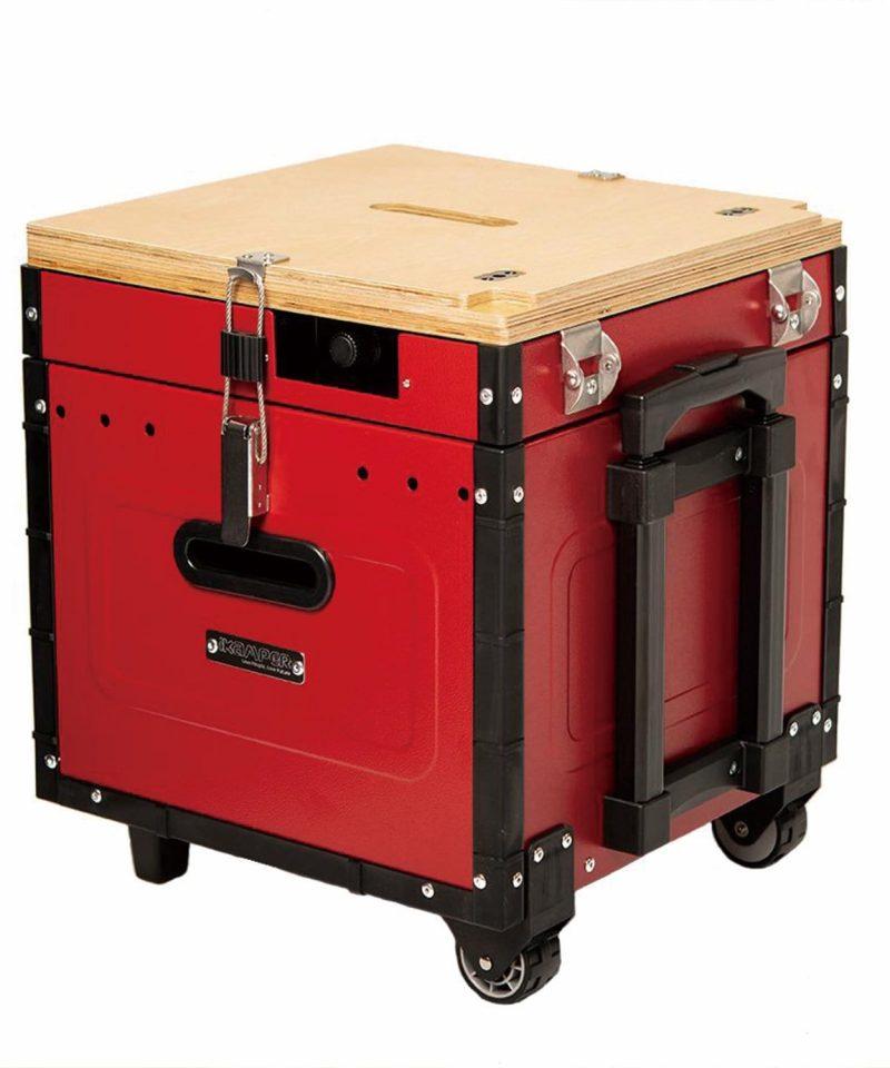 Aioks tiene todo lo que necesita para comer y cocinar4 personas al aire libre, todo en UNA caja.Pesa 9 kg por lo que es facil de transportar